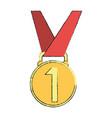 medal trophy symbol vector image vector image