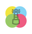navigation sea tower icon - lighthouse vector image vector image