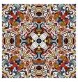 ornamental doodle floral pattern design vector image vector image