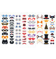 party photo booth props set photobooth elements vector image vector image