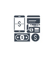payment method related glyph icon vector image vector image