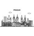prague city tour cityscape skyline line outline vector image