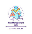 risk management skills concept icon vector image vector image