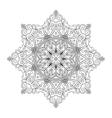 Round Mandala Monochrome vector image vector image