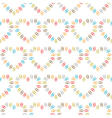 seamless pattern of hearts lined color paper clips vector image