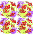 seamless pattern red currant fruits summer vector image vector image