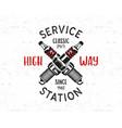 service station emblem design classic garage logo vector image