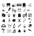 set of back to school 36 icons study vector image vector image