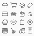 shopping symbol line icon vector image vector image