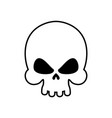 skull isolated skeleton head on white background vector image vector image