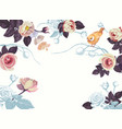 spring bird flower branch watercolor blank banner vector image