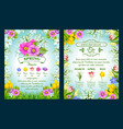 spring holiday sale posters set vector image vector image
