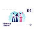 store open presentation event website landing page vector image