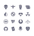 superheroes icons super power superhero vector image vector image