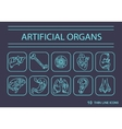 Thin line icons - artificial organs 2 vector image vector image