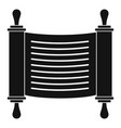 torah scroll icon simple style vector image vector image