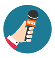 Voice recorder icon Live news Press vector image vector image