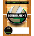 Volleyball Tournament Flyer vector image vector image