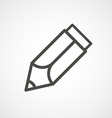 web icon of modern lineart pencil Digital vector image