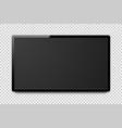 wide realistic 4k tv screen modern smart vector image vector image