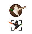 wild ducks fly duck hunting mallard duck flies vector image vector image