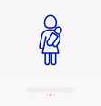 woman holding bain hands thin line icon vector image