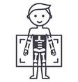 x-raymedical diagnostics man line ico vector image vector image