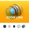 Zoom lens icon in different style vector image