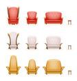 armchair throne sofa couch chair fairytale cartoon vector image