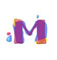 dots letter m logo m letter design with vector image