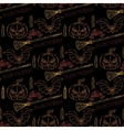 Seamless pattern Halloween with themed elements vector image