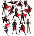 super heroine set vector image