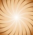 Abstract brown ray twirl background vector image