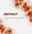 Abstract orange hexagon overlapping background vector image