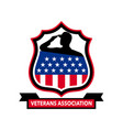 american veteran shield icon vector image vector image