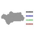 andalusia province map in dot style with grunge vector image