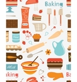 Baking seamless pattern vector image