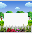 beautiful nature frame with good view vector image vector image