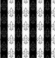 Black and white alternating Fleur-de-lis vertical vector image