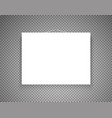 blank picture frame on transparent background vector image vector image