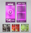 Blur menu wine vector image vector image