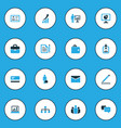business colorful icons set collection of bank vector image vector image