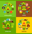 camping concepts set vector image