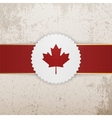 Canada paper Badge with red Ribbon vector image vector image