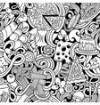 cartoon cute doodles hand drawn italian food vector image vector image