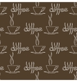 Coffee Cups Seamless Pattern vector image