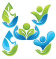 collection ecological people vector image vector image