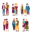 collection of cute gay and lesbian couples vector image vector image