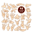 Comics cartoon hands set vector image vector image