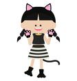 Cute cat woman vector image vector image